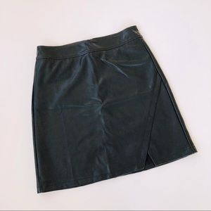 NWT LOFT Faux Leather Skirt
